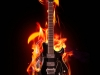 flaming guitar