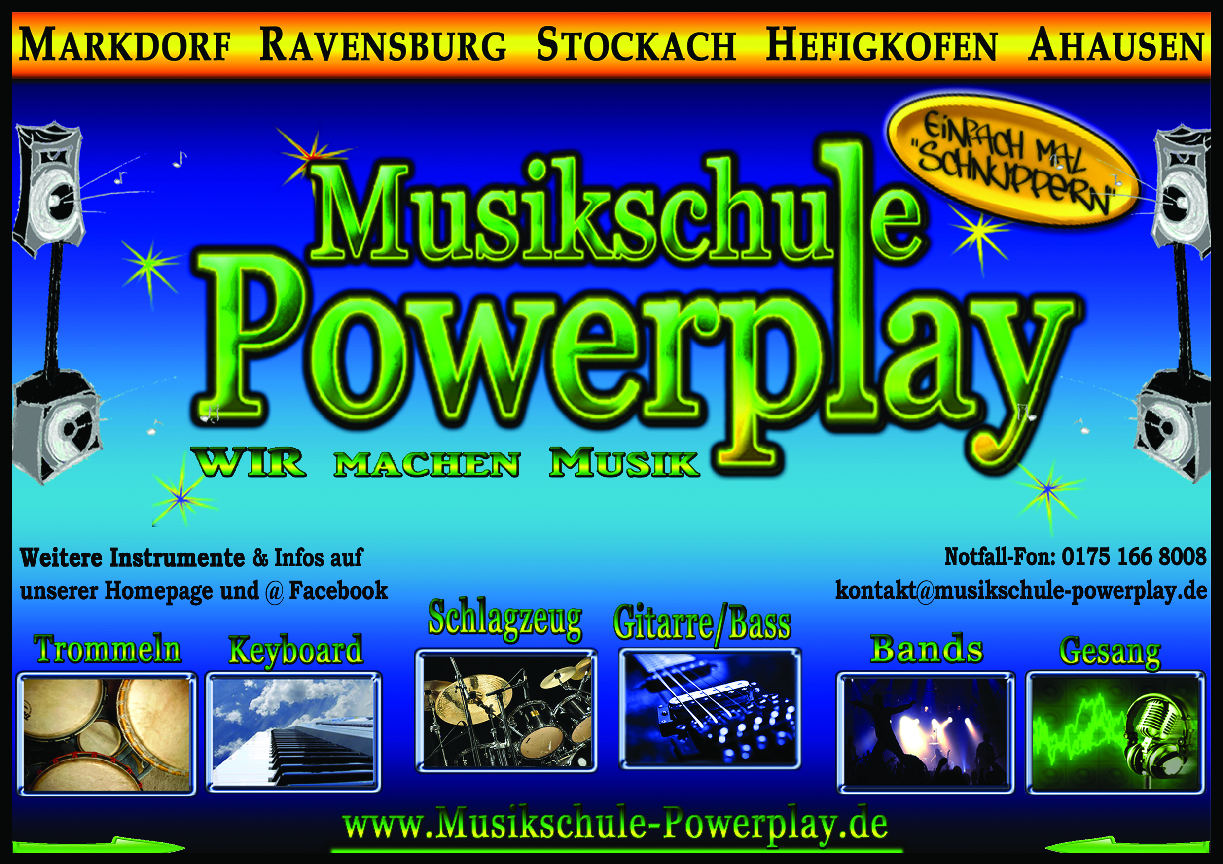 Flyer Musikschule Powerplay