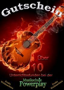 Gutschein Gitarre Unterricht