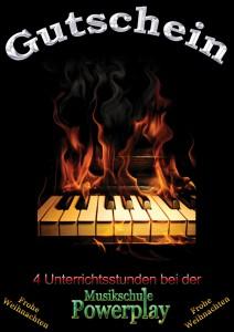 Keyboard/Klavier Unterricht Gutschein